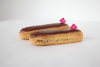 ECLAIR - choux paste, chocolate pastry cream and chocolate fondant